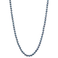Sterling Silver Akoya Pearl Necklace
