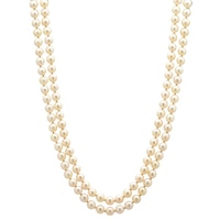 14K Yellow Gold Akoya Pearl Necklace