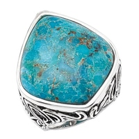 Barse Studio Sterling Silver Token Turquoise Statement Ring