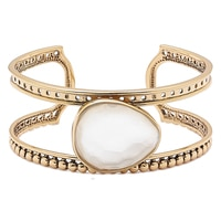 Barse Studio Lumen Faceted Mother of Pearl Cuff Bracelet