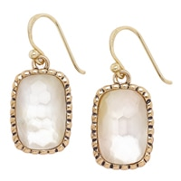 Barse Studio Lumen Faceted Mother of Pearl Drop Earrings