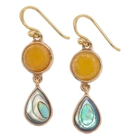 Barse Studio Maisie Quartz & Abalone Earrings