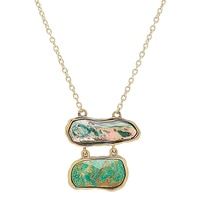 Barse Studio Seafolly Abalone & Turquoise Necklace