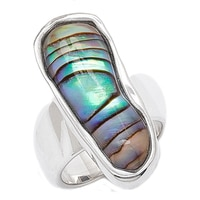 Barse Studio Sterling Silver Seafolly Abalone Ring
