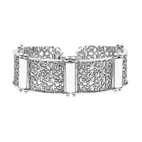 Designs from Nazareth Sterling Silver Oxidized Finish Bracelet