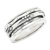 Designs from Nazareth Sterling Silver Oxidized Finish Spinner Band