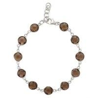 Bracelet en argent sterling rhodié et orné de gemmes de Sigal Style
