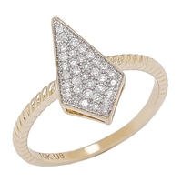 10K Yellow Gold Diamond Tribal Ring