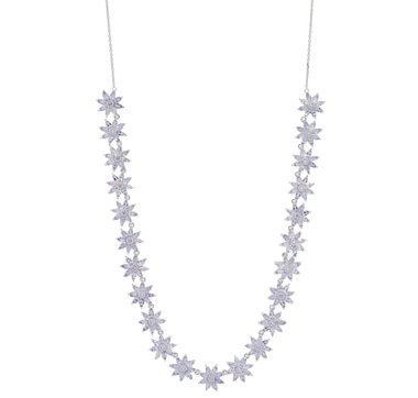 Sterling Silver Tanzanite & White Topaz Necklace