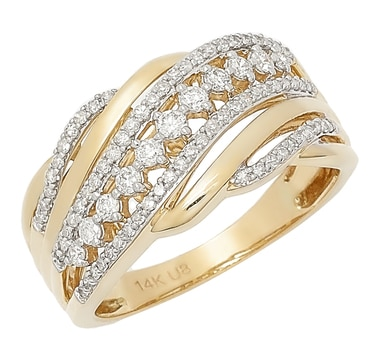 14K Gold Half Carat Diamond Ring