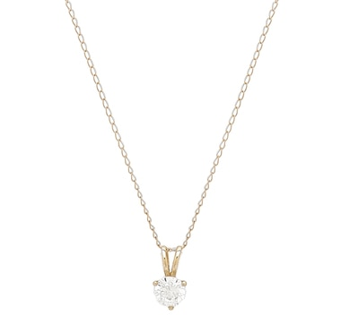 Diamonelle 10K Gold Pendant with Chain