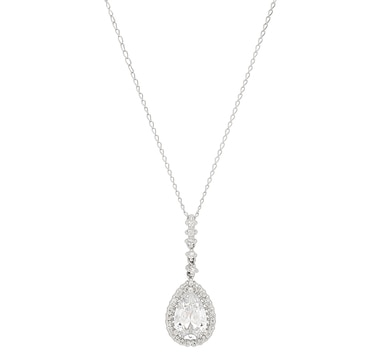 Diamonelle 10K Gold Drop Pendant with Chain