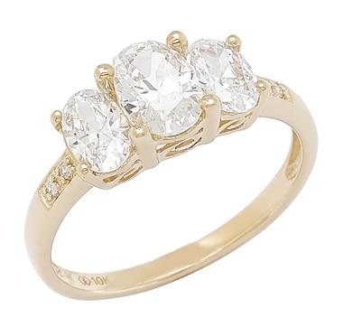 Diamonelle 10K Gold Trinity Ring