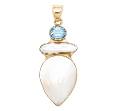 Alchemía by Charles Albert Multi Stone Drop Pendant