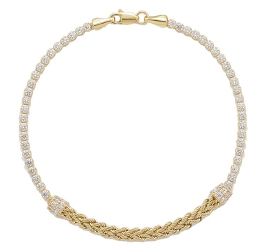Diamonelle 10K Yellow Gold Fancy Link Bracelet