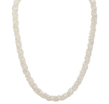 Himalayan Gems Silver Bead Necklace