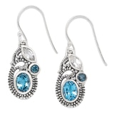 Samuel B. Collection Sterling Silver Gemstone Earrings