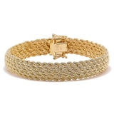 Uno A Erre 18K Yellow Gold Multi Row Bracelet