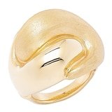 Stefano Oro 14K Yellow Gold Artformed Multi Textured Ring