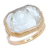 Vicenza Gold 14K Yellow Gold Intaglio Ring