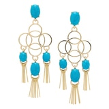R.J. Graziano Fringe Chandelier Earrings