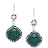 Ottoman Silver Sterling Silver Gemstone Drop Earrings