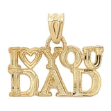 Breloque en or jaune 10 ct avec l'inscription « I love you Dad » de International Gold