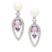 Imperial Pearls 14K Yellow Gold Freshwater Pearl Stud Earrings