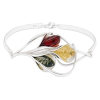 Amber Extraordinaire Sterling Silver Calla Lily Bracelet