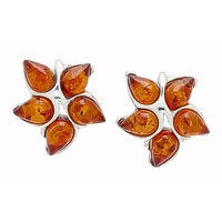 Amber Extraordinaire Sterling Silver Amber Earrings