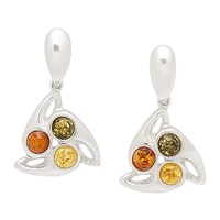 Amber Extraordinaire Sterling Silver Swing Earrings