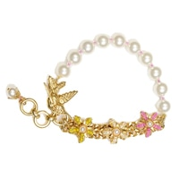Miriam Haskell Double Floral Cluster Bracelet