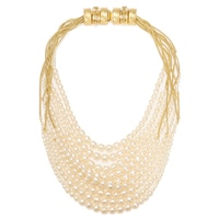 Miriam Haskell Pearl Bib Necklace