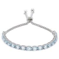 Sterling Silver Gemstone Adjustable Bracelet