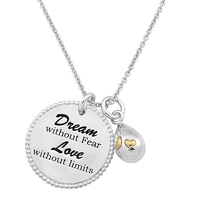 Silver Spectrum Sterling Silver Dream/Love Charm Necklace