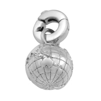 Silver Spectrum Sterling Silver Rhodium Plate Globe Charm