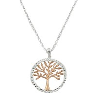 Silver Spectrum Sterling Silver Two Tone Tree of Life Pendant with Chain