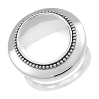 Silver Spectrum Sterling Silver Oxidized Finish Shield Ring