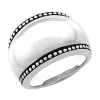 Silver Spectrum Sterling Silver Oxidized Finish Domed Ring