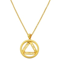 Silver Spectrum Sterling Silver Yellow Gold Plated Love Forever Pendant with Chain