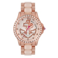 Betsey Johnson Ladies' Rose Gold Tone Anchor Bracelet Watch
