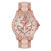 Betsey Johnson Ladies Rose Gold Tone Anchor Bracelet Watch