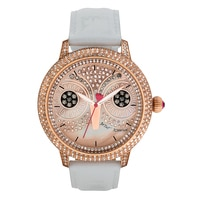 Betsey Johnson Ladies' Leather Strap Watch