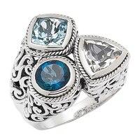 Samuel B. Sterling Silver 3 Stone Ring