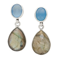 Samuel B. Sterling Silver Gemstone Drop Earrings