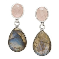 Samuel B. Sterling Silver Gemstone Drop Earrings