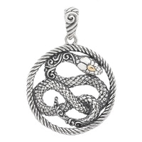 Samuel B. Sterling Silver & 18K Yellow Gold Snake Design Pendant