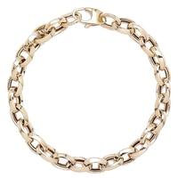 Bracelet à maillons ovales de style italien en or jaune 14 ct de Stefano Oro