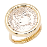 Stefano Oro 14K Two Tone Gold Roman Coin Ring