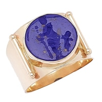 Vicenza Gold 14K Yellow Gold Erato Muse Intaglio Ring